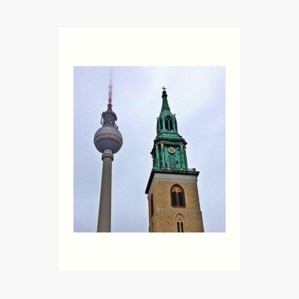 Towers, Berlin, Germany Art Print