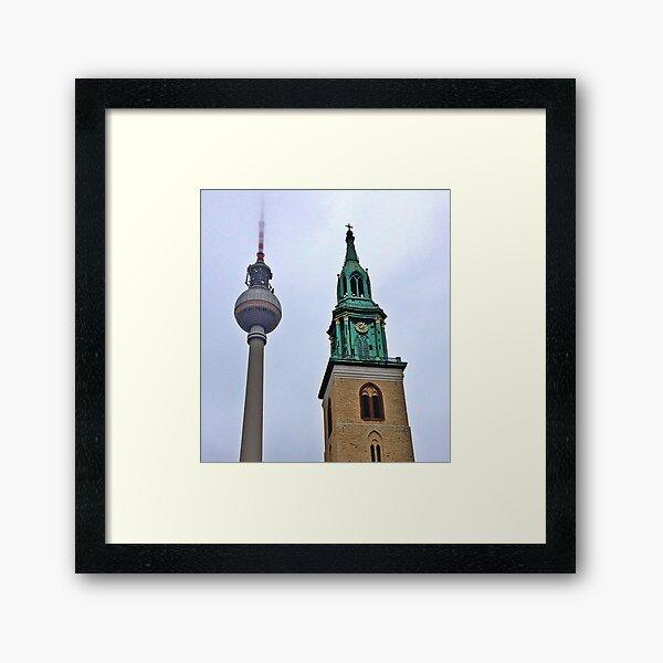 Towers, Berlin, Germany Framed Art Print