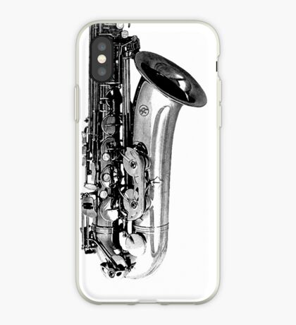 saxophone abstract iPhone Case