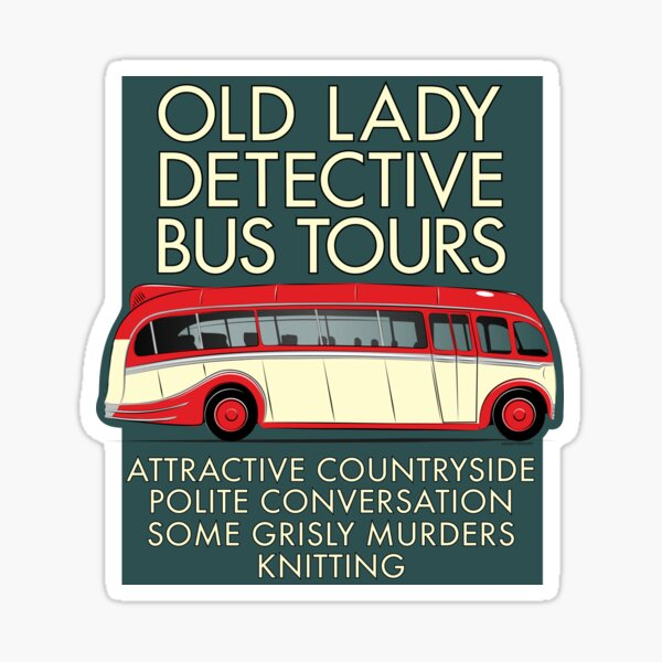 Old Lady Detective Bus Tours Sticker