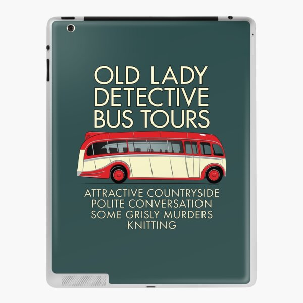 Old Lady Detective Bus Tours iPad Skin