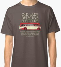 Old Lady Detective Bus Tours Classic T-Shirt