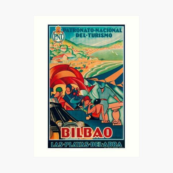 Bilbao Tourism Flyer Art Print