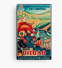 Bilbao Tourism Flyer Canvas Print