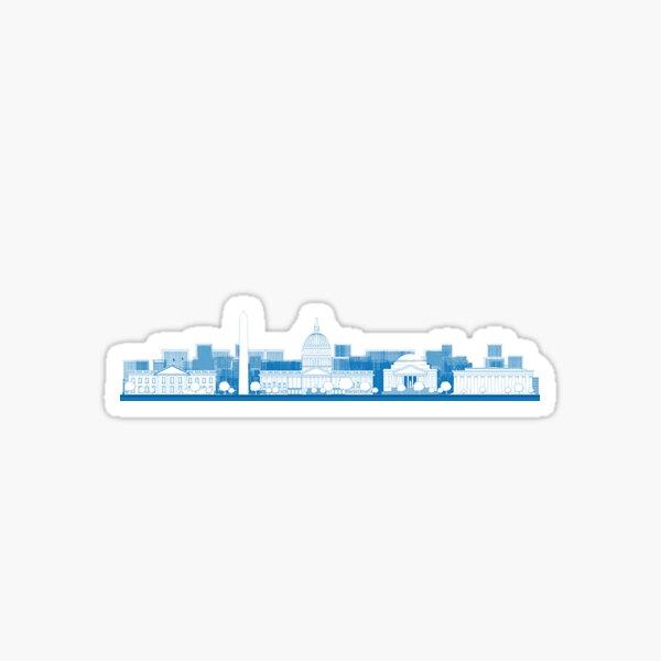 D.C. Skyline Sticker