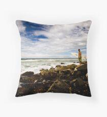 Rock Surfer Throw Pillow