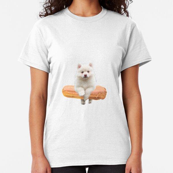 Cute Alaskan Malamute Dog jumping an éclair by Alice Monber Classic T-Shirt