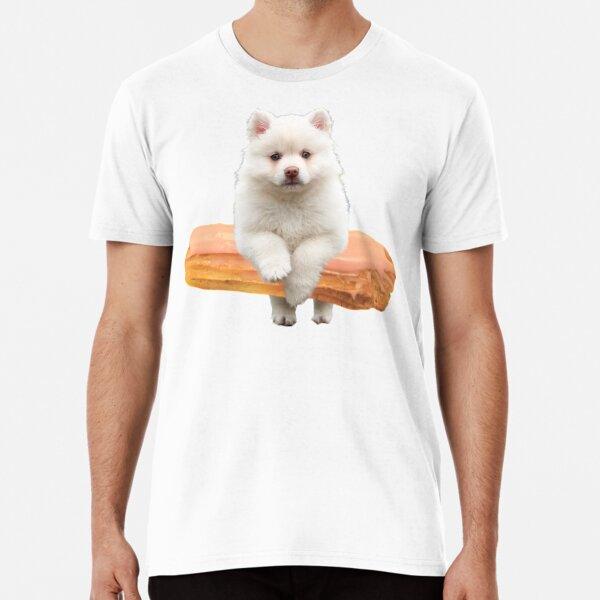 Cute Alaskan Malamute Dog jumping an éclair by Alice Monber Premium T-Shirt
