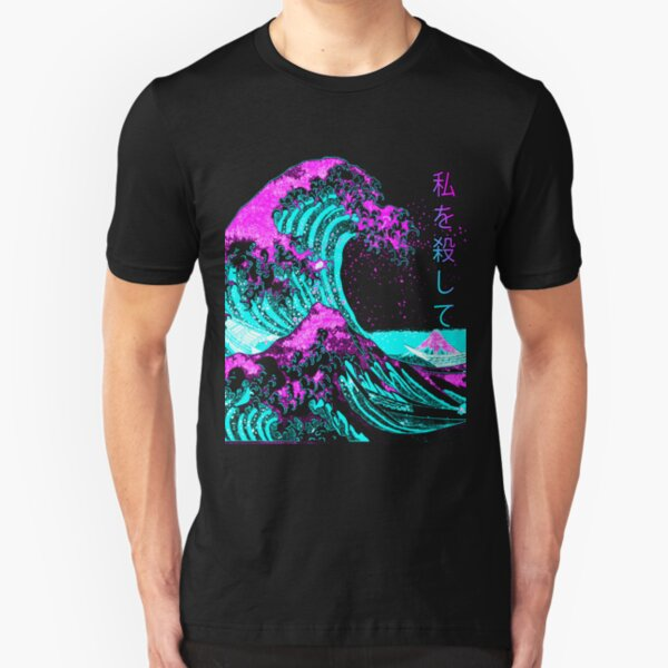 Aesthetic: The Great Wave off Kanagawa - Hokusai Slim Fit T-Shirt