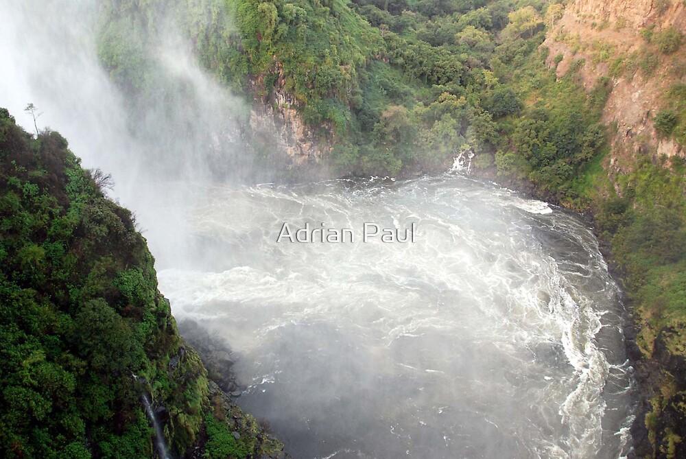 Zambezi River Below Victoria Falls Zambia - Zimbabwe by Adrian Paul