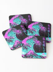 Aesthetic: The Great Wave off Kanagawa - Hokusai Coasters