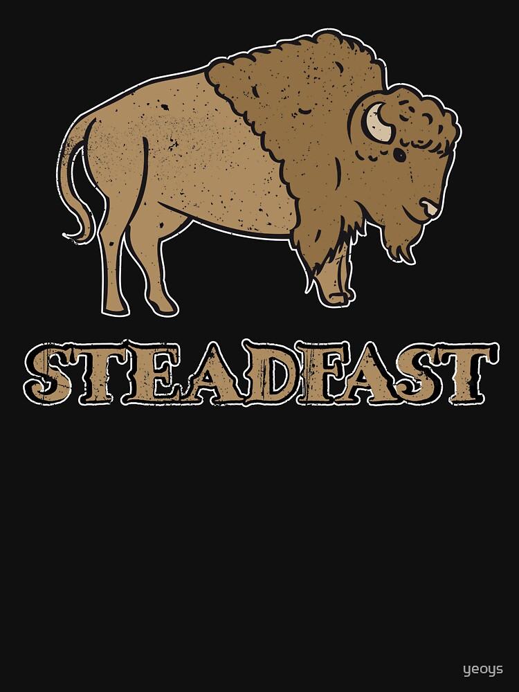 Steadfast Bison Buffalo - Wild Bison Jokes Gift by yeoys