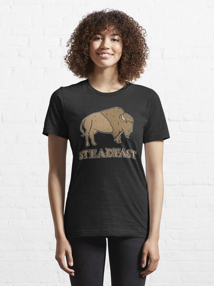 Alternate view of Steadfast Bison Buffalo - Wild Bison Jokes Gift Essential T-Shirt