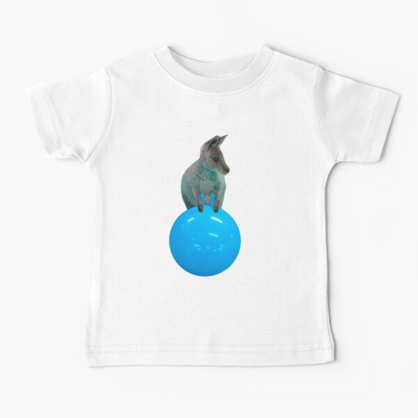 Cute kangaroo with a bouncy jumping hopping ball by Alice Monber Baby T-Shirt