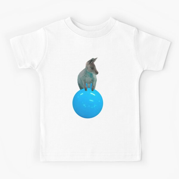 Cute kangaroo with a bouncy jumping hopping ball by Alice Monber Kids T-Shirt