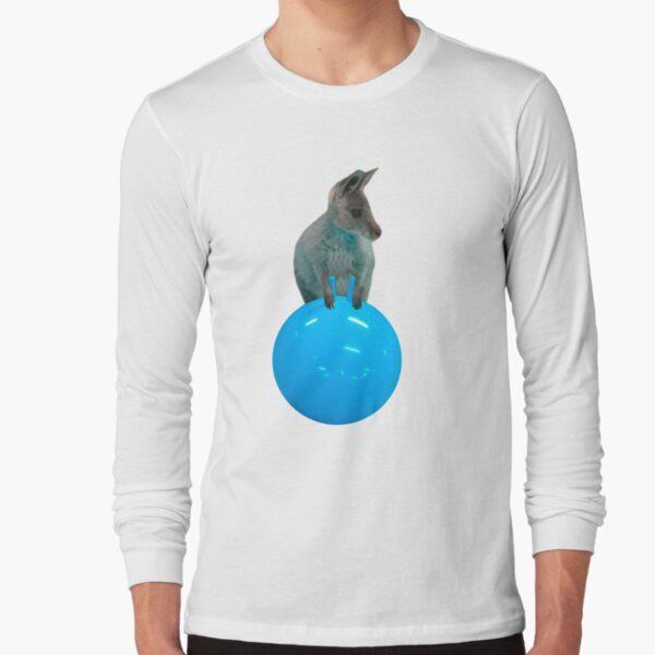 Cute kangaroo with a bouncy jumping hopping ball by Alice Monber Long Sleeve T-Shirt