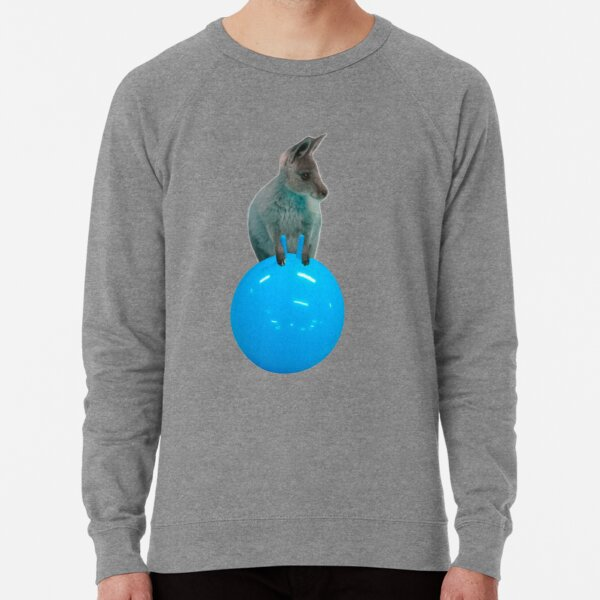 Cute kangaroo with a bouncy jumping hopping ball by Alice Monber Lightweight Sweatshirt