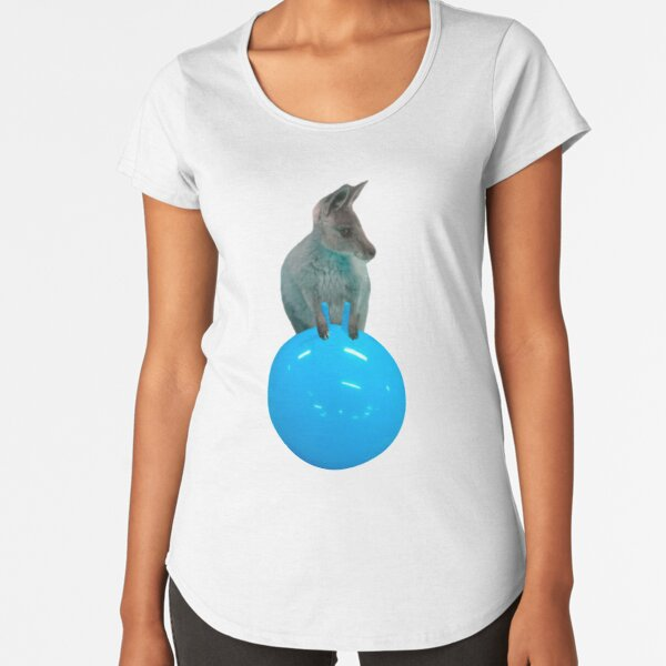 Cute kangaroo with a bouncy jumping hopping ball by Alice Monber Premium Scoop T-Shirt