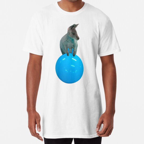 Cute kangaroo with a bouncy jumping hopping ball by Alice Monber Long T-Shirt