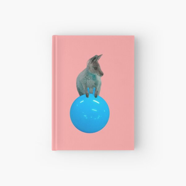 Cute kangaroo with a bouncy jumping hopping ball by Alice Monber Hardcover Journal