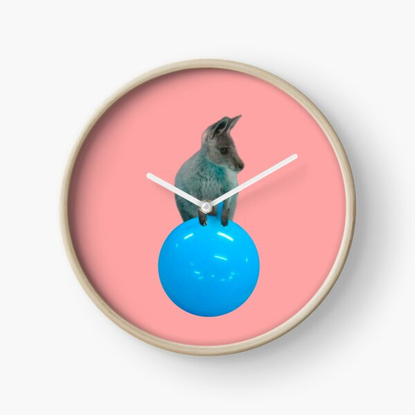 Cute kangaroo with a bouncy jumping hopping ball by Alice Monber Clock