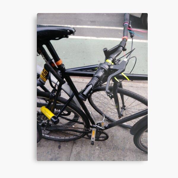 Street, City, Buildings, Photo, Day, Trees, New York, Manhattan, Brooklyn Metal Print