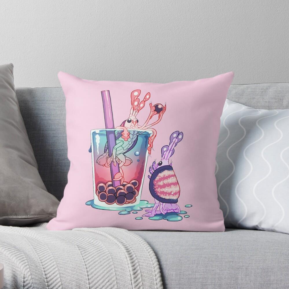 Alien Sweets: Scud Boba  Throw Pillow