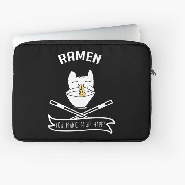 Ramen You Make Miso Happy - Funny Cat Kitty Kitten Ramen Noodle T-shirt Gift Laptop Sleeve