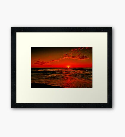 """Sunrise at Cathedral Rock"" Framed Print"