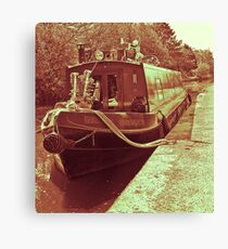 barge. Canvas Print
