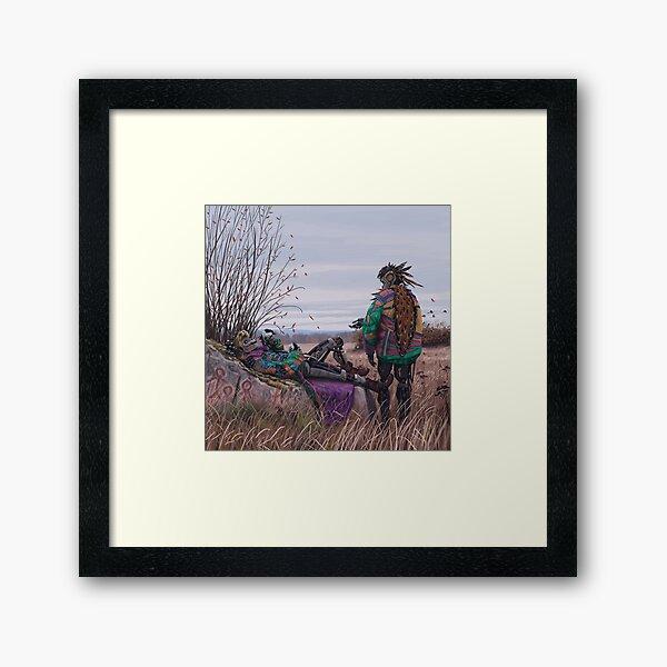 Vagabonds - The Magpie Charmer And Bub Framed Art Print