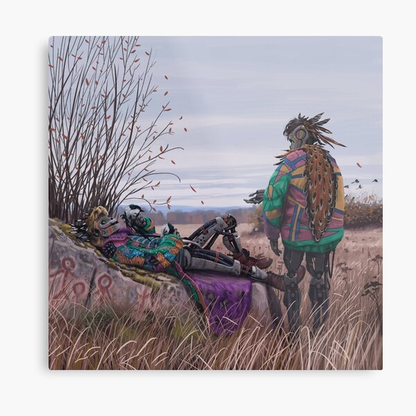 Vagabonds - The Magpie Charmer And Bub Metal Print