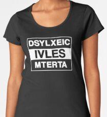 Funny Dyslexic Lives Matter Design for Dyslexia Awareness Women's Premium T-Shirt
