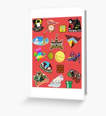 Super Mario Odyssey Location Stickers XL for Individual Greeting Card