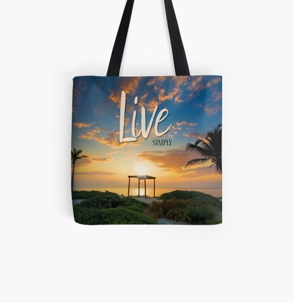 Live Laugh Love - Give Back to Nature All Over Print Tote Bag