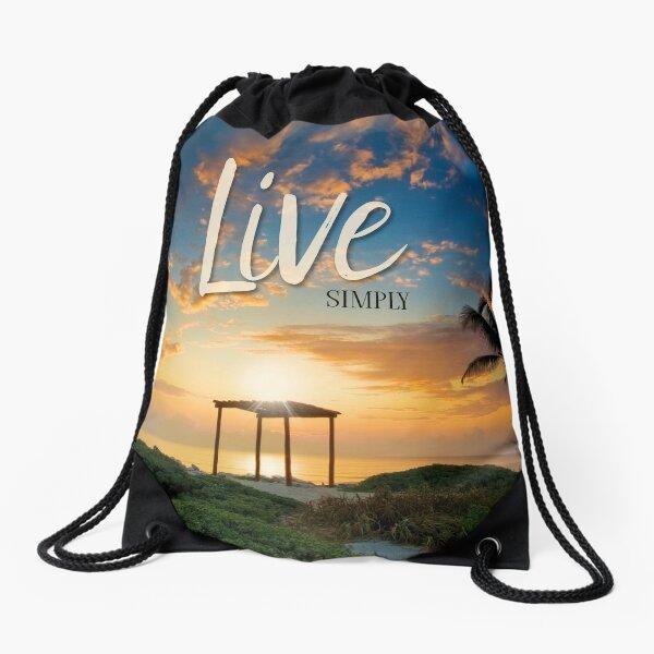 Live Laugh Love - Give Back to Nature Drawstring Bag