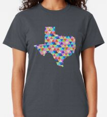 Texas Geometric Colorful Triangles Hipster Texas Classic T-Shirt