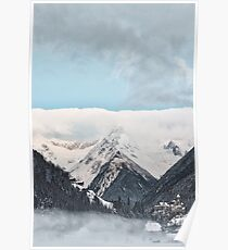 Beautiful Mountains and Blue Sky Poster