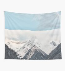 Beautiful Mountains and Blue Sky Wall Tapestry