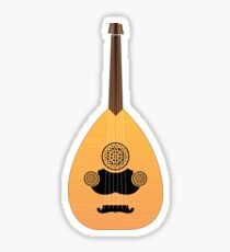 Cool ARABIC OUD INSTRUMENT Design Gift For Music Lovers Boys Girls and Kids Sticker