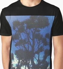 Blue Cloud Tree  Graphic T-Shirt