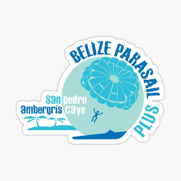 Belize Parasail Sticker