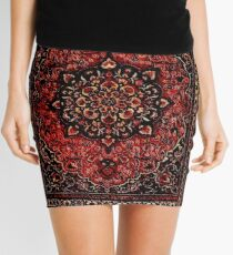 Persian carpet look in rose  Mini Skirt