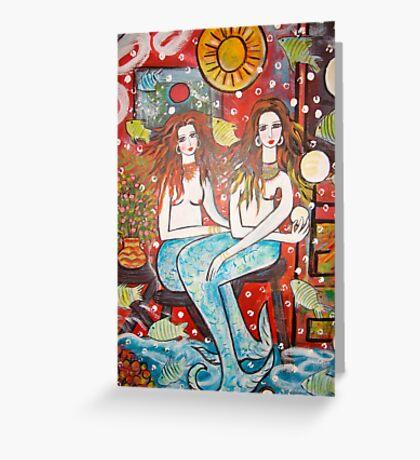 Mermaids Treasure  House   Greeting Card