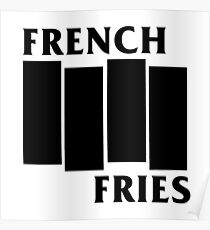 French Fries- Black Poster