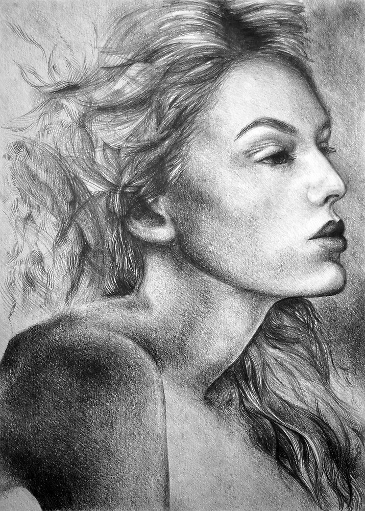 Into the unknown, 2018, 50-70cm, graphite crayon on paper by oanaunciuleanu