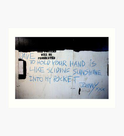 Johnny (street poet) Art Print