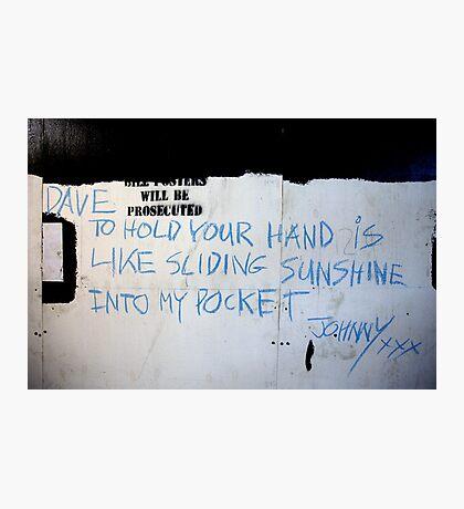 Johnny (street poet) Photographic Print