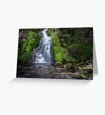 Assaranca Waterfall, Ardara Greeting Card