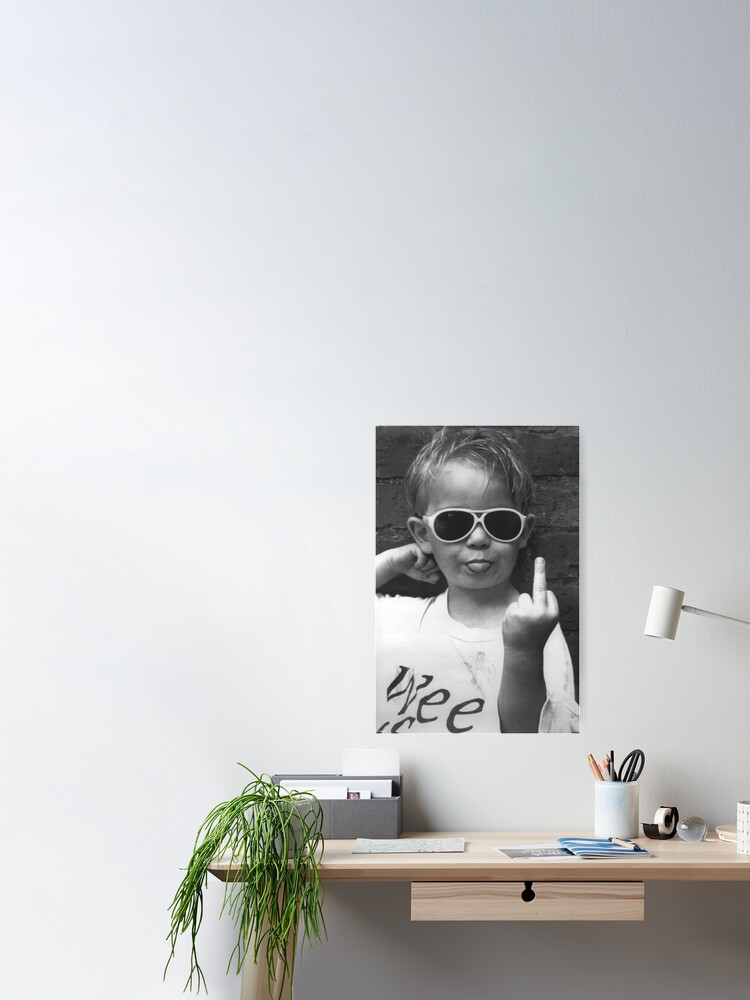 Alternate view of Boy Sticking His Tongue Out Poster